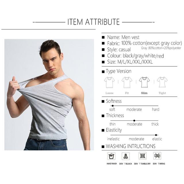 TFETTER Men's Underwear Cotton Tank Top Men High Quality Bodybuilding Singlet Sleeveless Slim Fit Vest Men Tank Tops 4