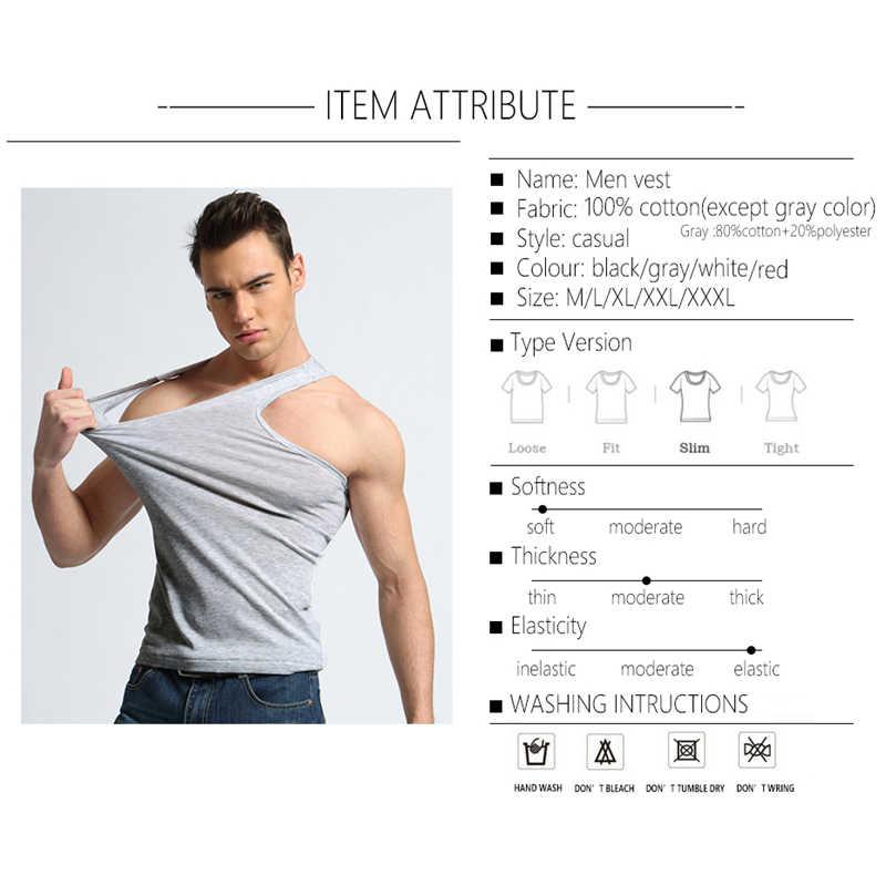 TFETTER erkek iç çamaşırı pamuk Tank Top erkekler yüksek kaliteli vücut geliştirme atlet kolsuz Slim Fit yelek erkekler Tank Tops