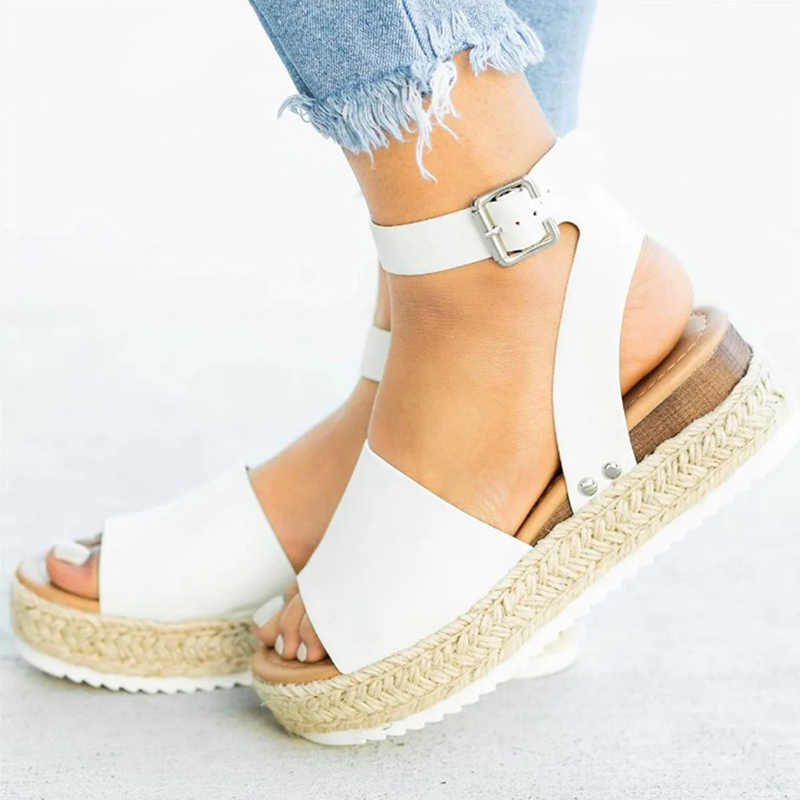 SHUJIN Keile Schuhe Für Frauen Sandalen Dropship High Heels Sommer Schuhe 2020 Flop Chaussures Femme Plattform Sandalen Neue Mode