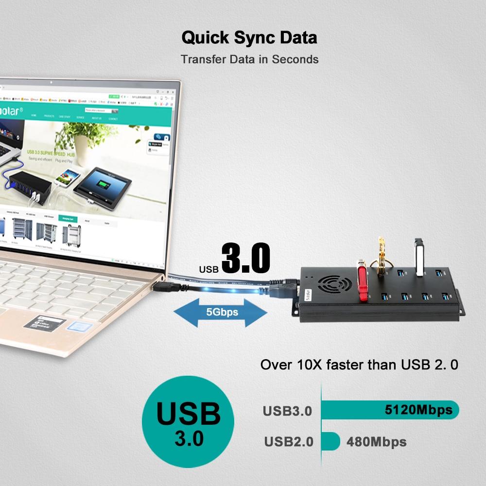 Orico 10 port USB 2.0 HUB SMARTPHONE IPHONE Tablet CHARGING HUB Android