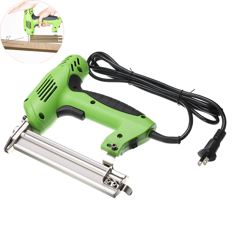 Framing Tacker Electric Stapler Gun 2 In 1 Nails And Staple Electric Nails Gun With 100pcs Nails Electric Power Tools