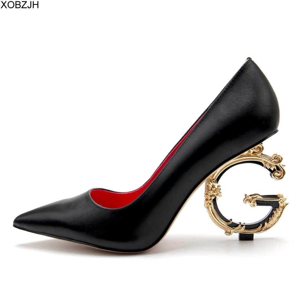 Đầm Công Sở G Giày Nữ Sang Trọng Gợi Cảm Giày Cao Gót Bơm 2019 Thiết Kế Đen Đỏ Vàng Trắng Gót Cho Nữ Cưới cô Dâu Giày
