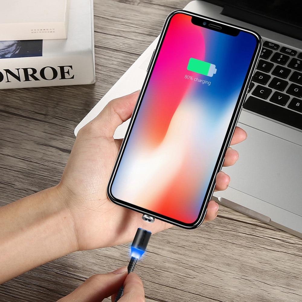 Магнитное зарядное устройство USB для ZTE Blade A7 V7 lite V9 Vita, Магнитный зарядный кабель Micro USB для Samsung galaxy A6, J8, J7 Neo, J4, A2, быстрая зарядка