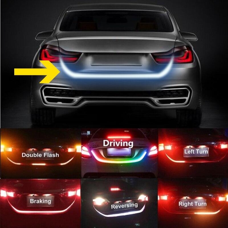 Car Trunk LED Strip RGB LED Rear Signal Warning Lights For Toyota Land Cruiser Prado RAV4 Avensis Camry Yaris Corolla Reiz Auris