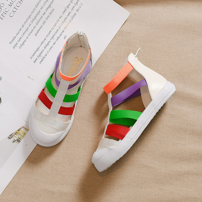 Summer Girl's Sandals Korean-style Fashion Closed-toe Princess Shoes Soft Bottom Small Children's Sandals