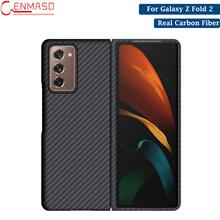 Para Samsung Galaxy plegado Z 2 de fibra de carbono Real caso protector para Samsung Galaxy plegado Z 2 Fold2 5G caso Ultra delgada cubierta