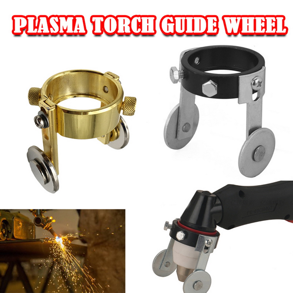 For P80 Metal Plasma Cutter Torch Roller Guide Wheel Two Screw Positioning Tool