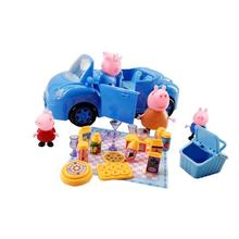 New Peppa Pig Little Girl George Toy Blue Car Set Action Character Cartoon Child Christmas