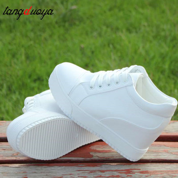 platform sneakers women shoes White for Wedge Heels Casual Shoes Woman high Platform sneaker