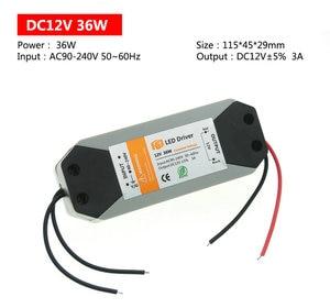 Image 3 - 18W 36W 72W 100W LED 전원 공급 장치 DC12V 드라이버 LED 스트립 조명 12V 전원 공급 장치 어댑터에 대 한 고품질 조명 트랜스 포 머