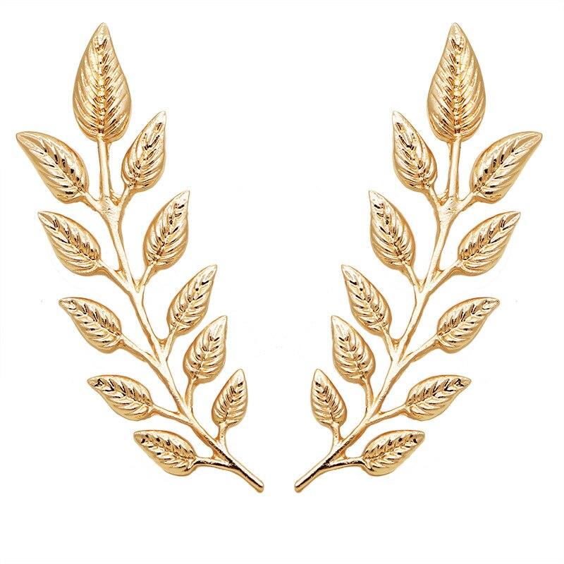 I-Remiel Vintage gömlek yaka Pin yaprakları buğday broş sıcak pirinç kulak altın rozeti broş kadınlar takı aksesuarları için 2 adet