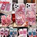 Für Xiaomi Redmi K20 6 7A 7 6 6A 5A 5 Plus 4A 4X Hinweis 7 6 5 Pro 4X 4 abdeckung Floral Einhorn Flamingo Glitter Wasser Flüssigkeit Fall