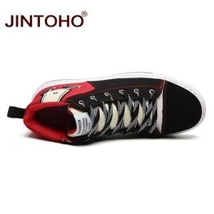 Image 5 - JINTOHO Unisex Mode Winter Turnschuhe Casual Unisex Winter Stiefel Mode Männer Booties Winter Männer Schuhe Billig Leinwand Schuhe