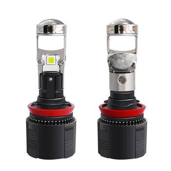 110W/par lámpara H4 LED Mini Bi led lente proyector coche faro 12000LM H7 H11 LED H8 H9 HB4 HB3 9005 9006 bombillas de motocicleta