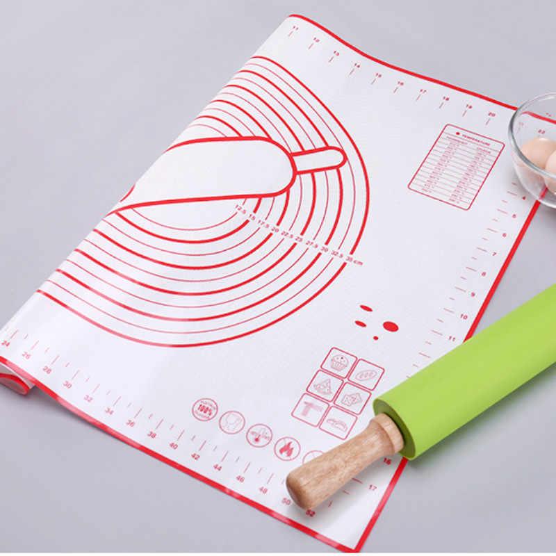 1 Uds. Tapetes de silicona para hornear hoja de masa de Pizza soporte antiadherente para hacer pasteles utensilios de cocina accesorios para hornear