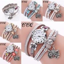 Модные женские кварцевые часы дамский браслет с подвеской в