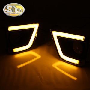 Image 5 - SNCN LED בשעות היום ריצת אור עבור טויוטה קורולה 2014 2015 2016 אביזרי רכב עמיד למים ABS 12V DRL ערפל מנורה קישוט