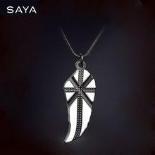 Кулон для мужчин ожерелье с подвеской крестом Модный кулон в