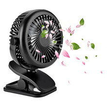 Multifunction Clip Fan Mini Rechargeable Baby Stroller Fans Portable Air Cooling USB Desk Fan with USB 18650 Battery Output