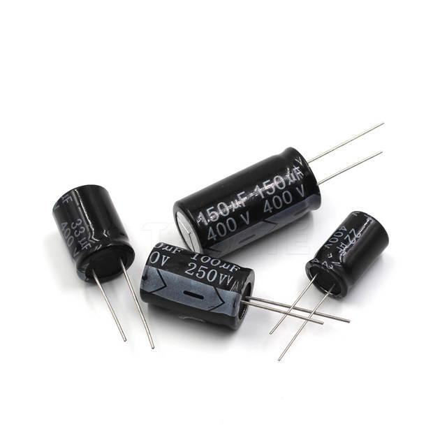 8 mm serie M 47 µF 100 V con plomo Radial de ± 20/%, Condensador electrolítico
