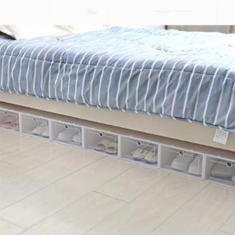 Transparent and Stackable Shoes Storage Boxes of Plastic in White Color 3