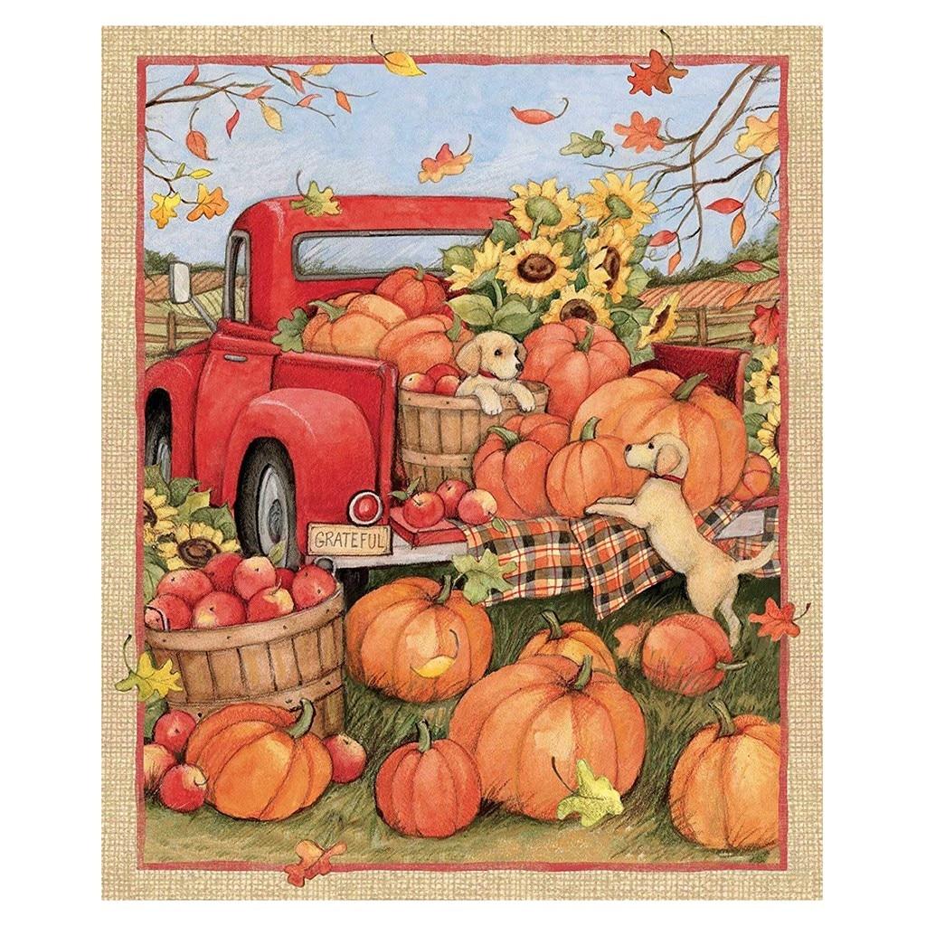 Fall Veggies THANKSGIVING CROCHET TOP HANGING TOWEL 3 Styles Scarecrow Pumpkins