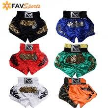 Мужские и женские боксерские трусы быстросохнущие с принтом ММА шорты для кикбоксинга, бойцовские шорты с тигром, Муай Тай боксерские трусы