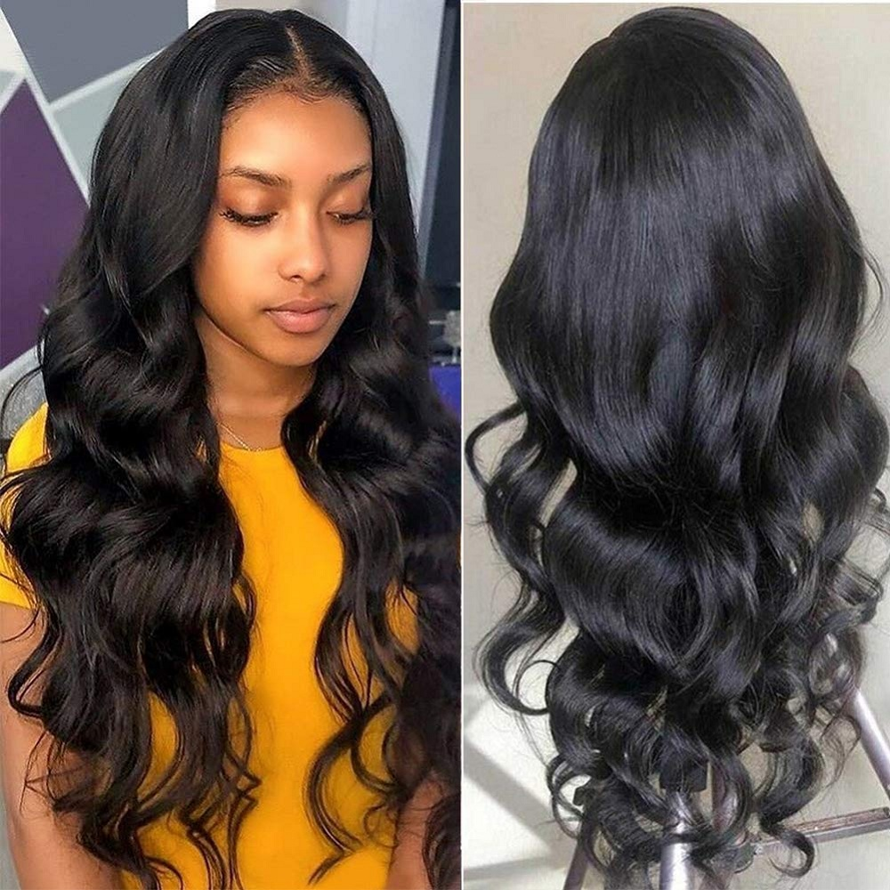 Body Wave Lace Front Human Hair Wigs 13X4 Lace Frontal Pre Plucked Hair Wigs For Black Women Brazilian Wigs Ms Love