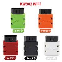 Kw902 wifi v1.5 obd2 scanner elm 327 bluetooth obd2 obdii ferramenta de diagnóstico do carro automático elm327 1.5 leitor de código wifi para ios android