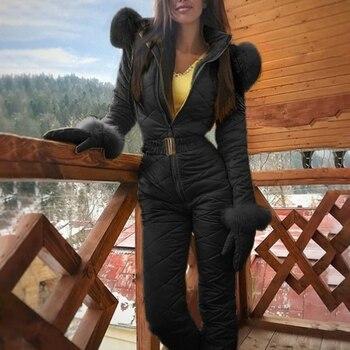 Stylish Durable Women Lady Winter Warm Snowsuit Outdoor Sport Pants Ski Suit Waterproof Windproof Trousers
