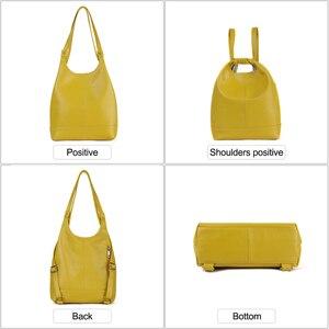 Image 4 - JOGUJOS Genuine Leather Handbag Fashion Women Shoulder Messenger Bag Leather luxury Ladies Tote Bags for Women Brand Handbags