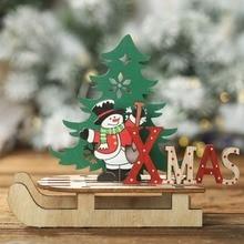 NewElk Xmas Tree Pendants Hanging Wooden Christmas Ornaments Party DIY Decor Home Garden Decorative Supplies Tool