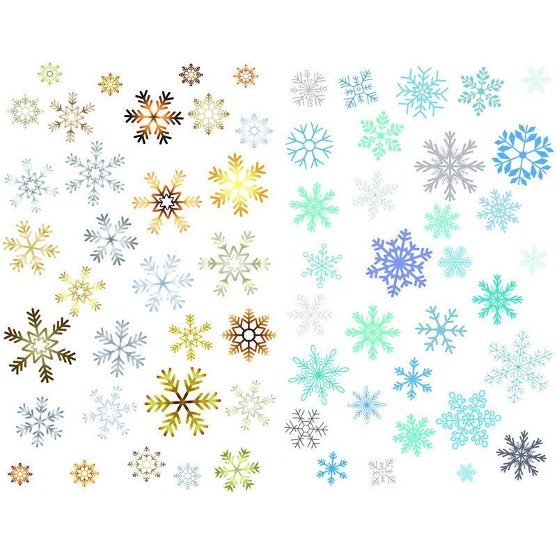 1 PCS Watercolor Snowflake DIY Craft Precut Waterproof Paper Sticker Stationery Scrapbook Cute Diary Planner Stickers