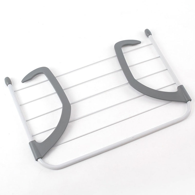 Portable Foldable Drying Rack Clothes Punch Free Hanger Winter Heating Radiator Balcony Clothes Hanger 52X16X34.5Cm|Drying Racks| |  - title=