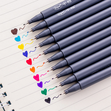 10 pcs/lot Fine line drawing pen for manga cartoon advertising design Water Color pens Stationery Office school supplies