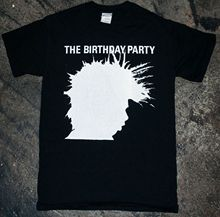 The Birthday Party - 'Shadow' T-Shirt (bad seeds x chosen few nick cave)  Men'S T-Shirt Fashion