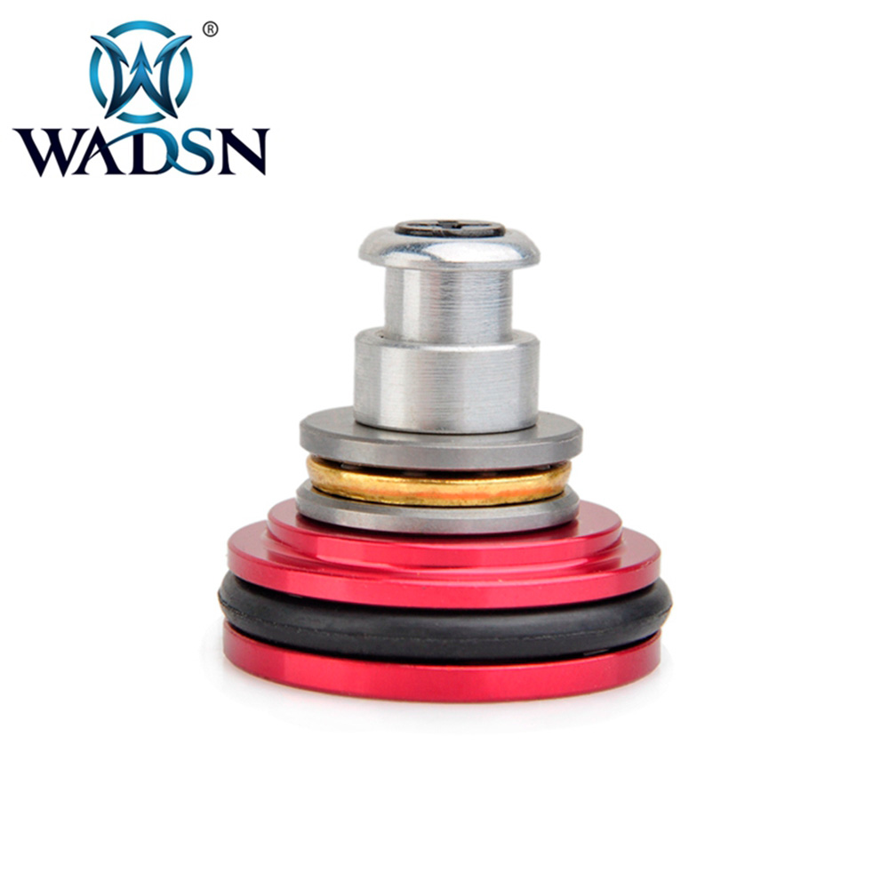 WADSN Tactical CNC Aluminum Piston Head 8 Holes Airsoft AEG Upgrading Essential Part PO03009 Hunting Paintball Accessories