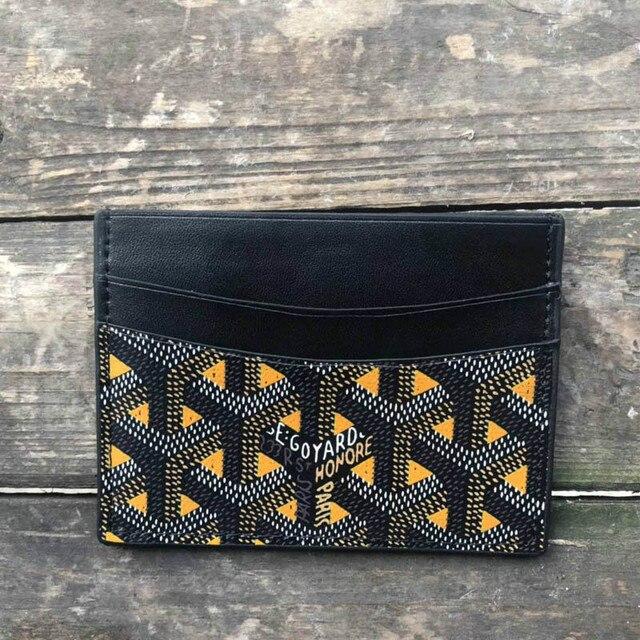 2020 new Goya Goyard dog tooth leather card holder men and women multi-card coin purse cute wallets  card holder  purses