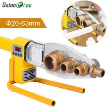 Welder Plumber Water-Pipe PPR Butt RPV Display Heating Plastic Digital 20-63mm 1set Welding-800w