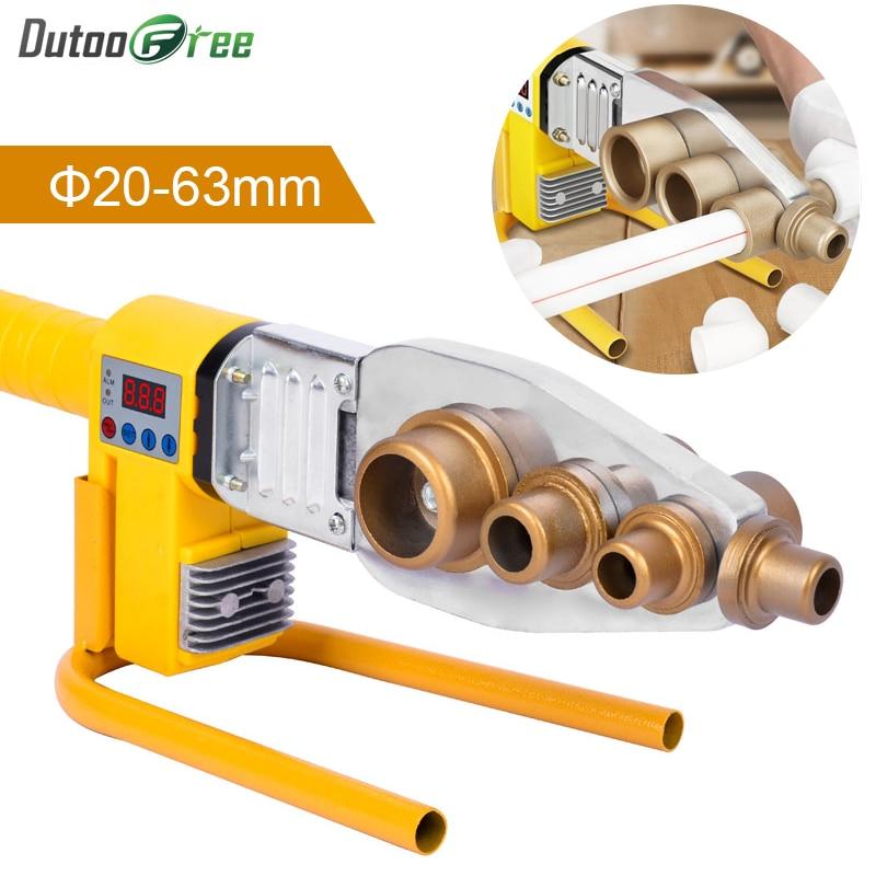 1Set Digital Display Water Pipe Welder     20-63mm Water Pipe Plastic Welder Machine Plumber Heating PPR RPV Butt Welding 800W