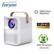 Everycom ET30 Мини проектор Native Full HD Android Wifi опционально 1920x1080p Портативный светодиодный проектор 4K видео домашний кинотеатр детский подарок