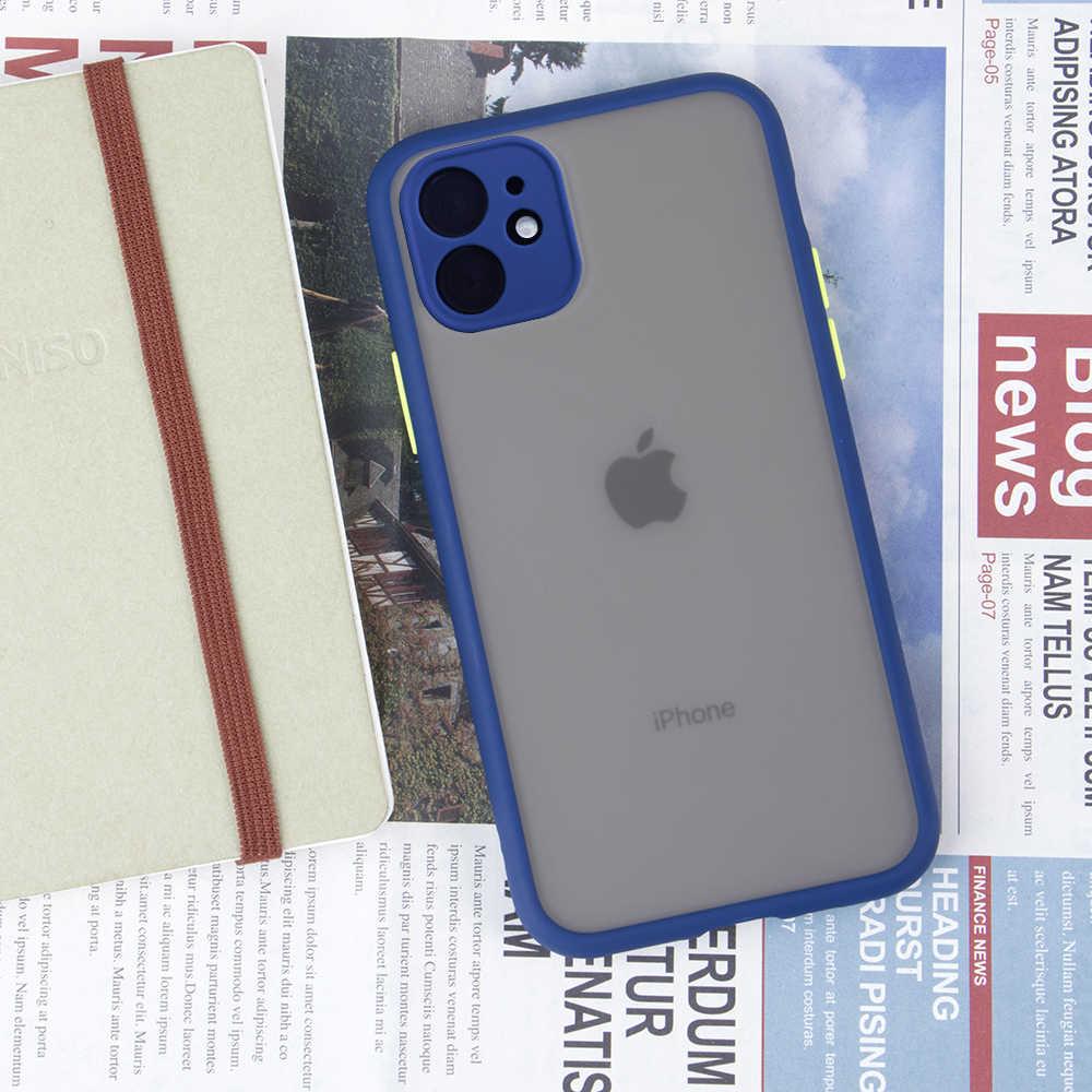 アンチノック鎧電話 iPhone 11 7 8 6 6S プラスカバー X XS 最大 XR 11 プロマックスマットハード電話ケース保護カバー
