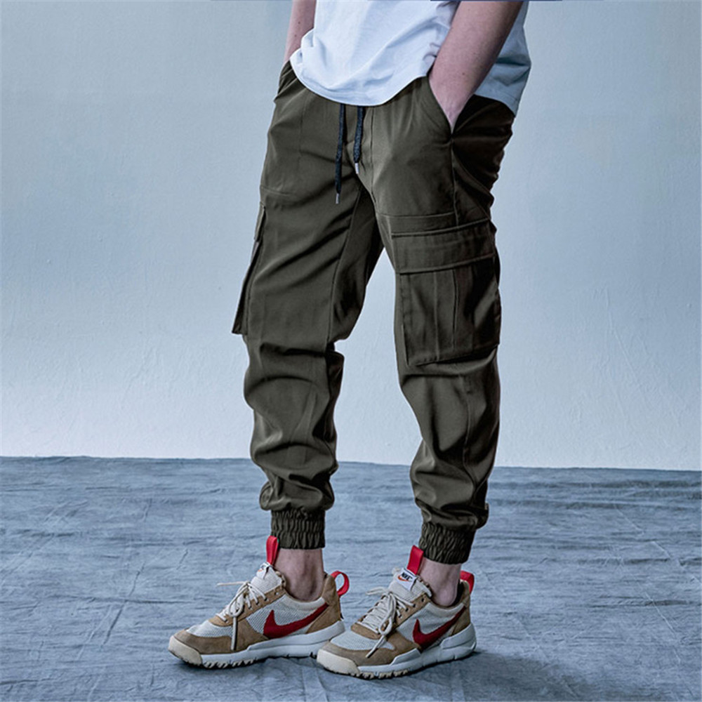 New Style Men's Cargo Pants Running Training Loose Long Pants Male Casual Jogger Sweatpants Solid Brand Pant Trousers