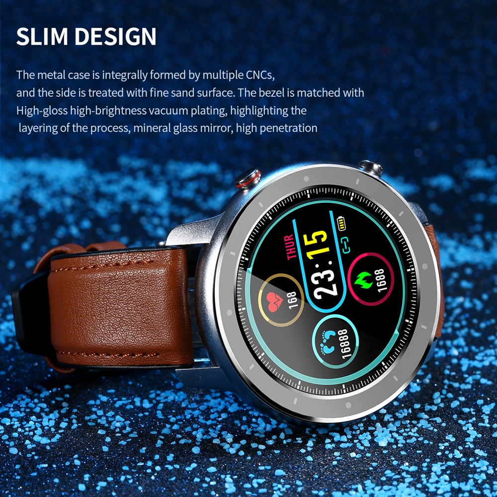 JOHOX-2020 New Smart Watch Color Screen Smartwatch IP68 Waterproof Fitness Tracker Heart Rate Monitor Smart Wristband Men Watch