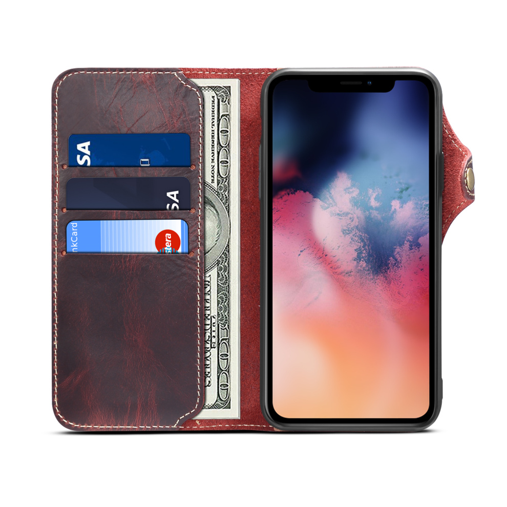 Durable Genuine Leather Wallet Case for iPhone 11/11 Pro/11 Pro Max 7