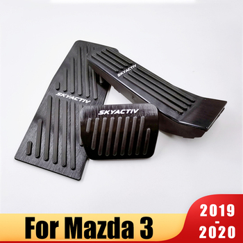 For Mazda 3 Axela CX-30 2019 2020 Aluminum alloy Car Accelerator Gas Pedal Brake Pedal Clucth Pedals Rest Foot Pedal Pads Cover new arrival car foot pedal for tesla model 3 accelerator gas fuel brake pedal pads mats cover accessories car styling