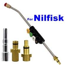 Lavadora de carro lança jato lança para nilfisk italiano & gerni kew alto wap calma alta pressão arma lavagem com bico ajustável pulverizador