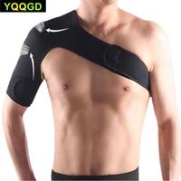 1 pçs respirável ajustável ombro suporte cinta unisex esporte cinta de compressão cinta envoltório cinto para rotador manguito lesão alívio|Suportes|Beleza e saúde -