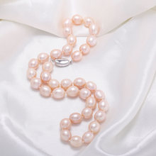 купить 2019 Amazing Price AAAA Natural Freshwater Pearl Necklace for Women Elegant Luxury Pearl Necklace Fashion Jewelry Gift 2 Color дешево