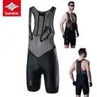 Santic велосипедные шорты с нагрудником для мужчин MTB дорожный велосипед велосипедные шорты с подкладкой из губки Ciclismo Culotte Hombre гоночная одежд...